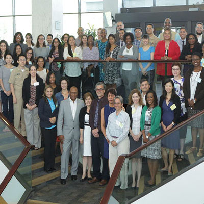 The 2016 Health Disparities Research Institute scholars pictured alongside NIMHD leadership, committee members and HDRI faculty on the campus of NIH on August 15, 2016.