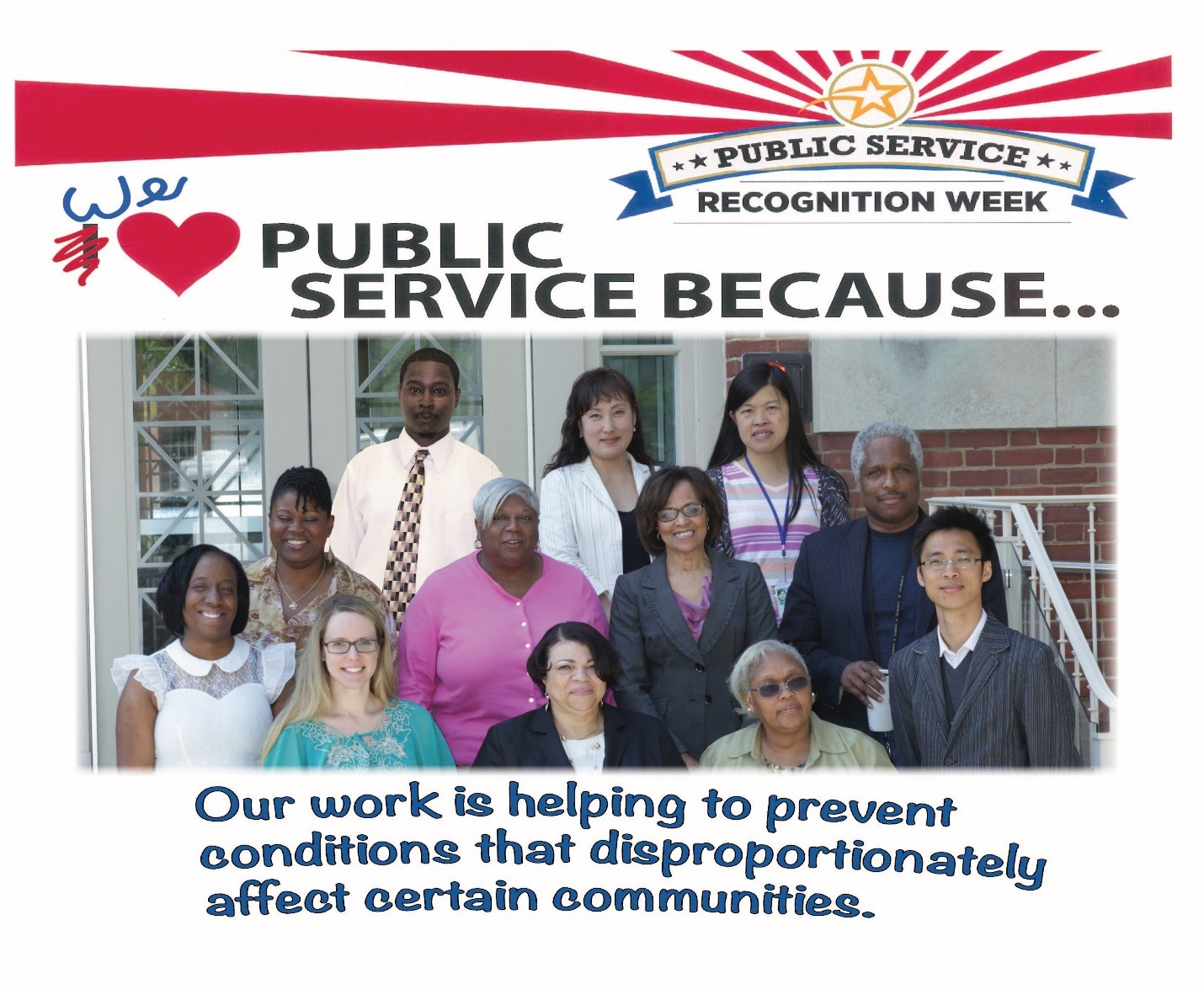 NIMHD Intramural Research Program staff during Public Service Recognition Week